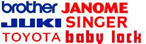 brother JANOME JUKI SINGER TOYOTA babylock